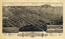 Helena 1883 Bird's Eye View 17x27, Helena 1883 Bird's Eye View